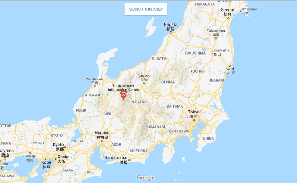 Hirayu Onsen - Map